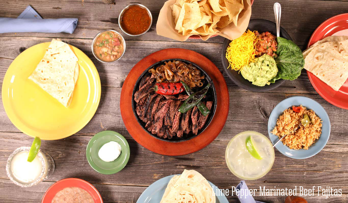 Lime pepper marinated fajitas